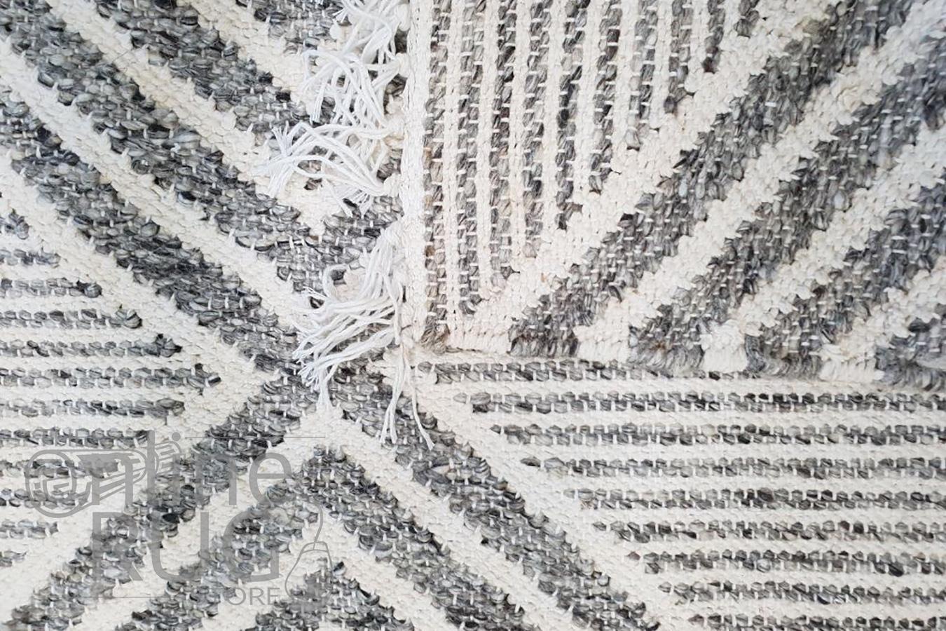 Bohemian Grey Diamond Hand-Loomed Textured