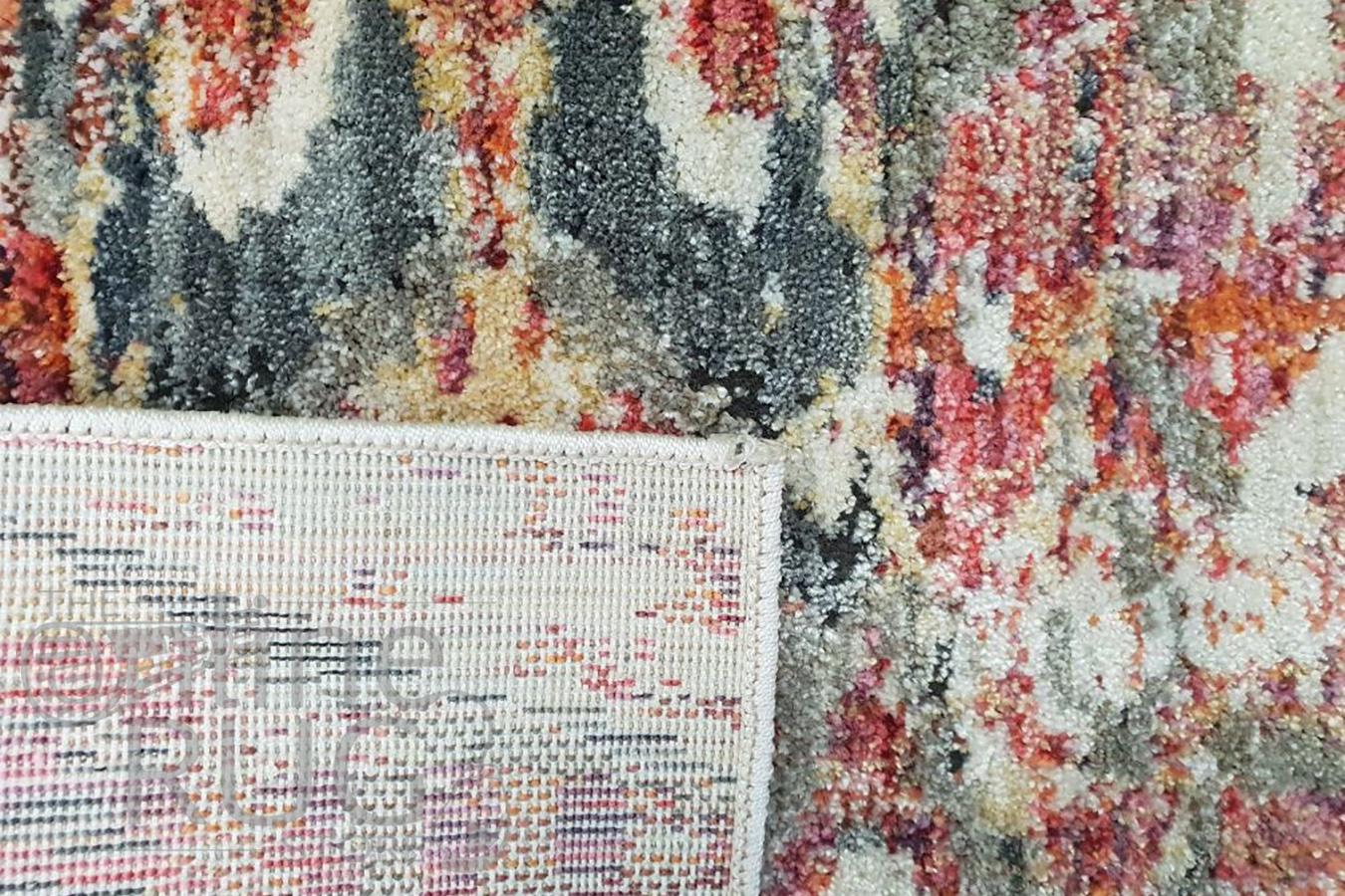 Bella Rust and Prints Distressed Rug