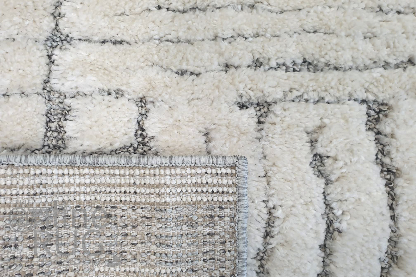 Chloe Light Grey Ivory Abstract Lines Textured Rug