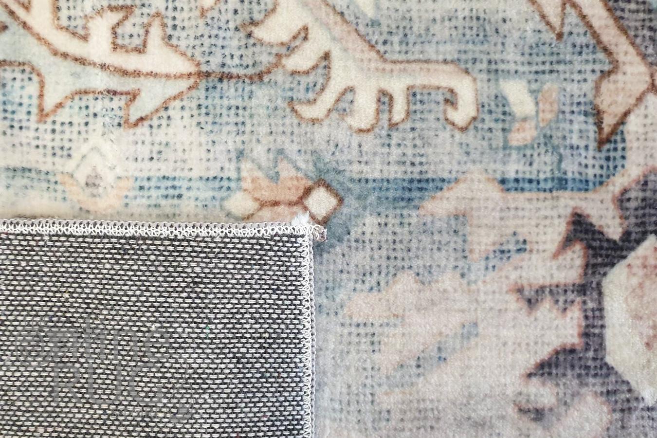 Ariel Charcoal Ivory Teal Medallion Transitional Rug