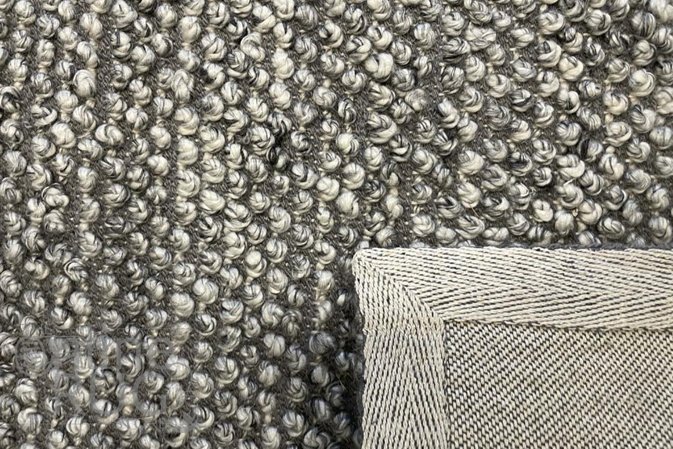 Avani Dark Grey Stone Loop Rug