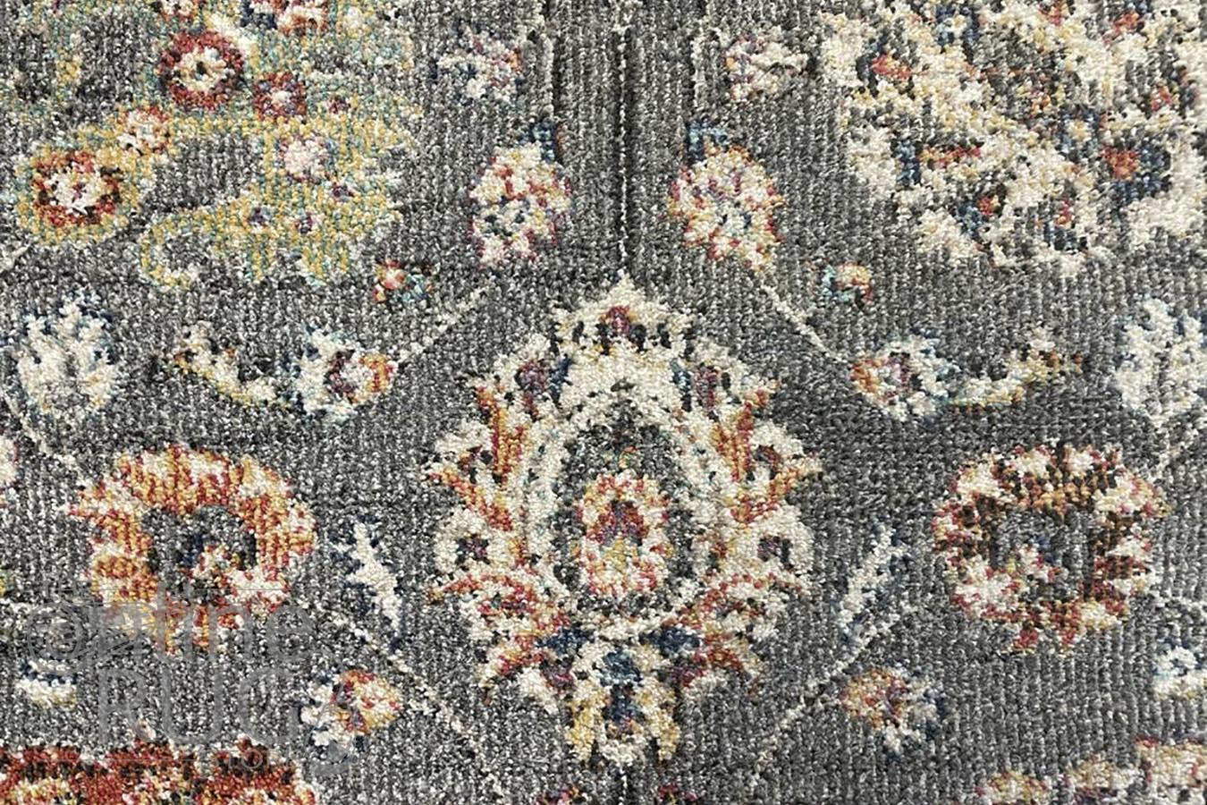 Ariana Grey Distressed Oriental Rug