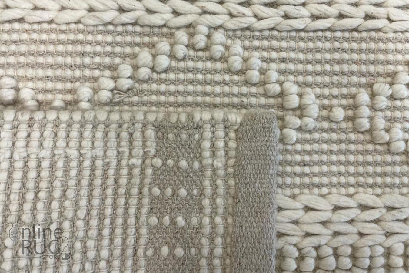 Macey Dreamy Ivory Geometric Wool Rug