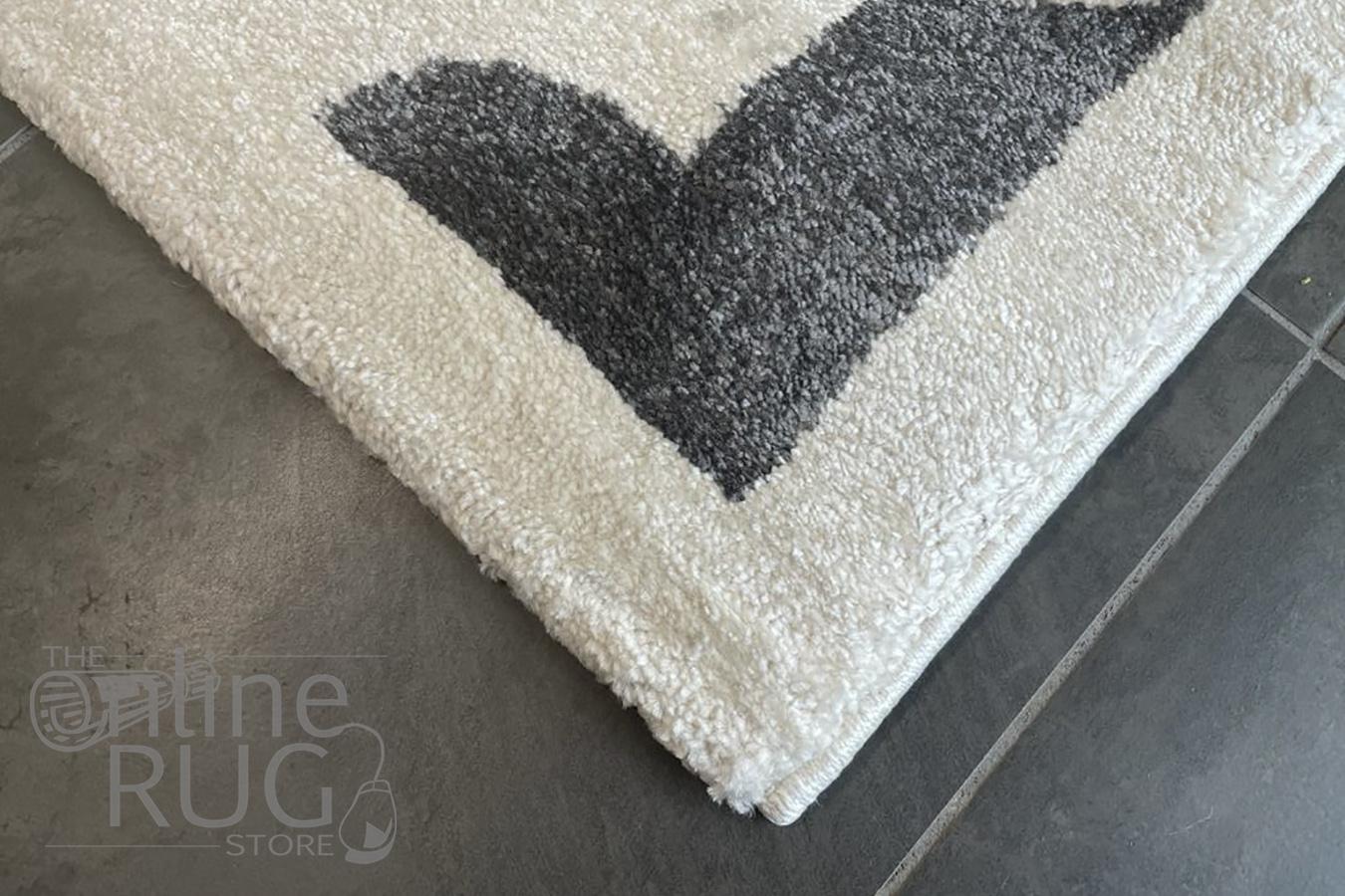 Bambino Grey White Lattice Pattern Rug