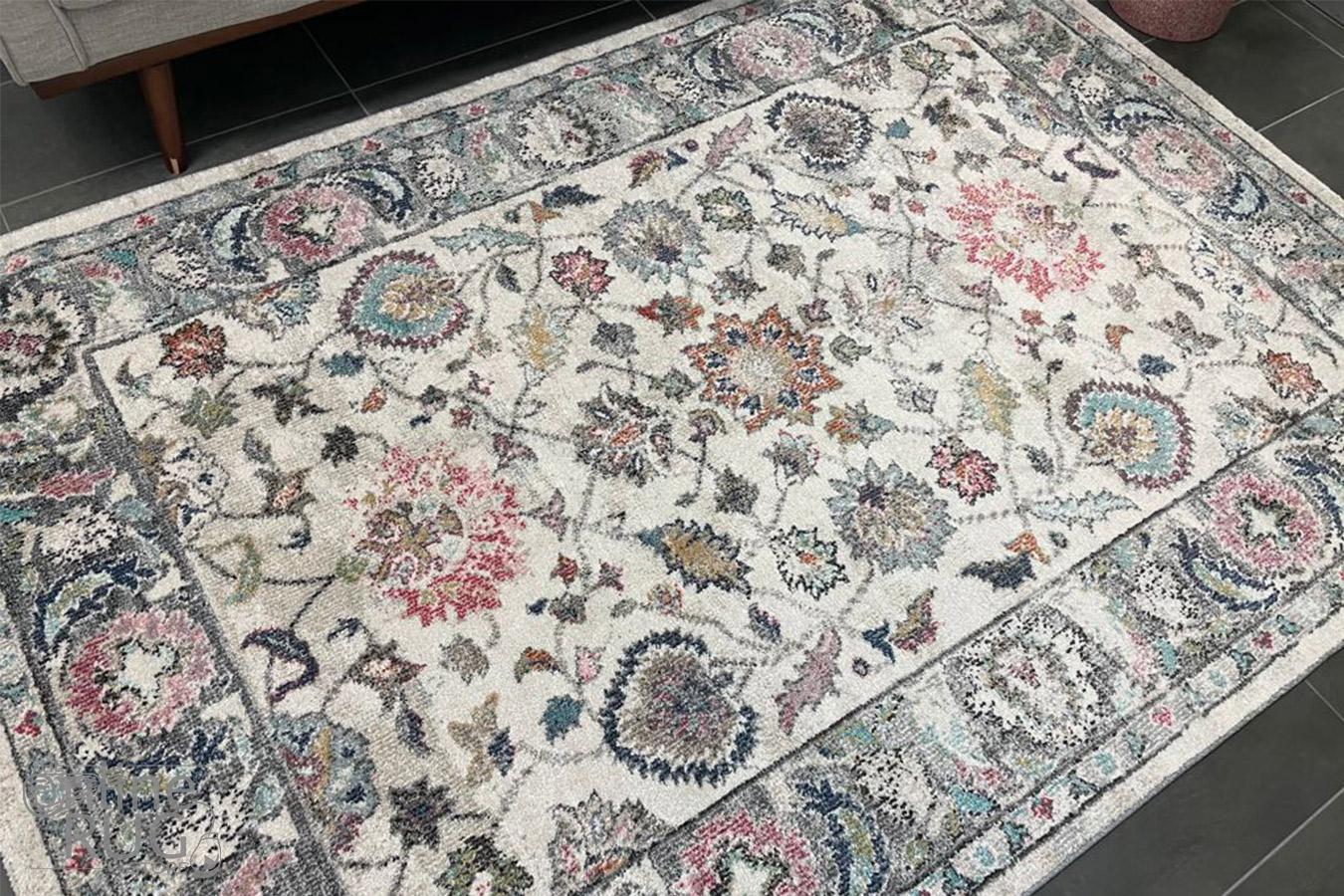 Serena Grey Multicoloured Oriental Rug