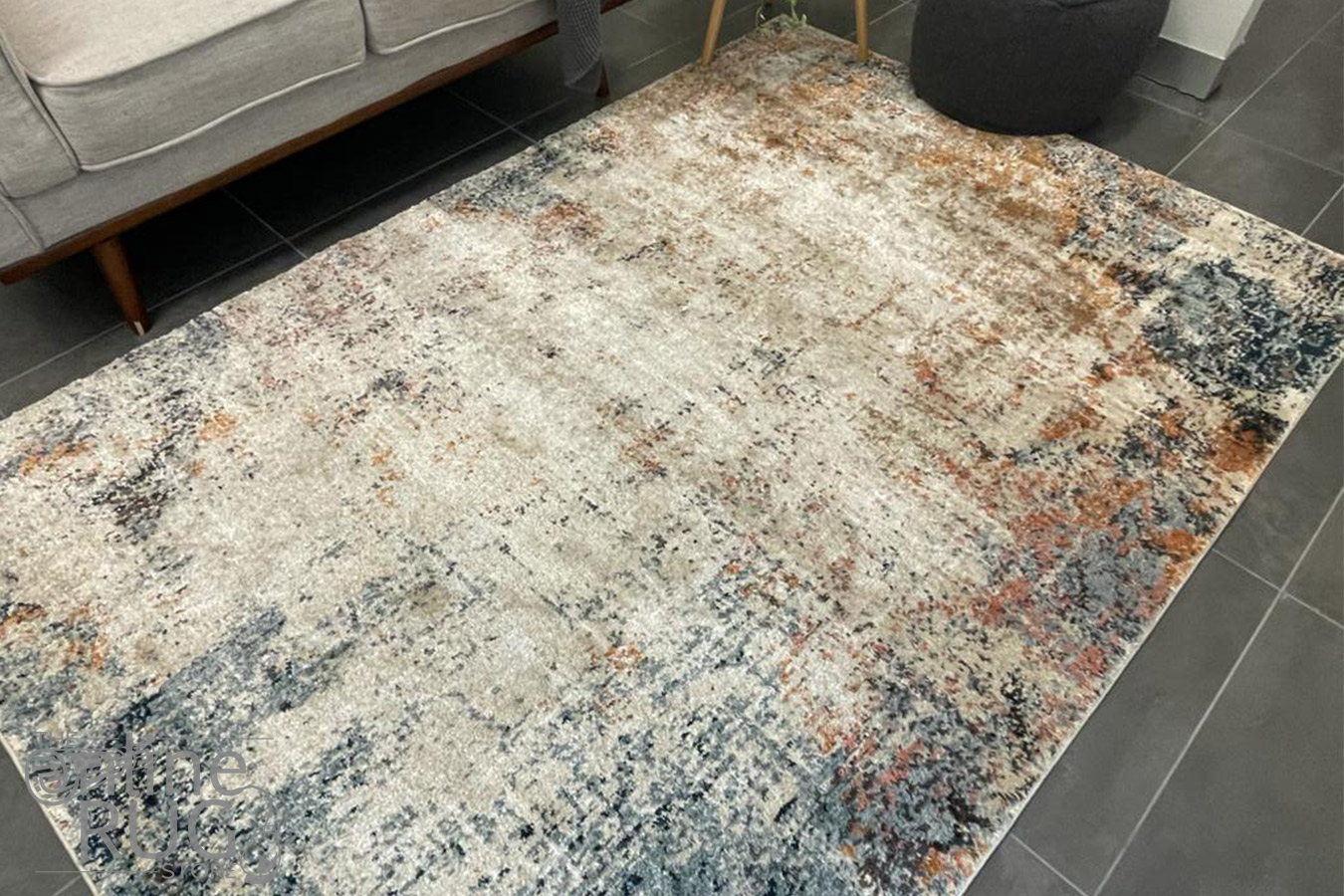 Kalypso Multi Colour Abstract Faded Wash Rug