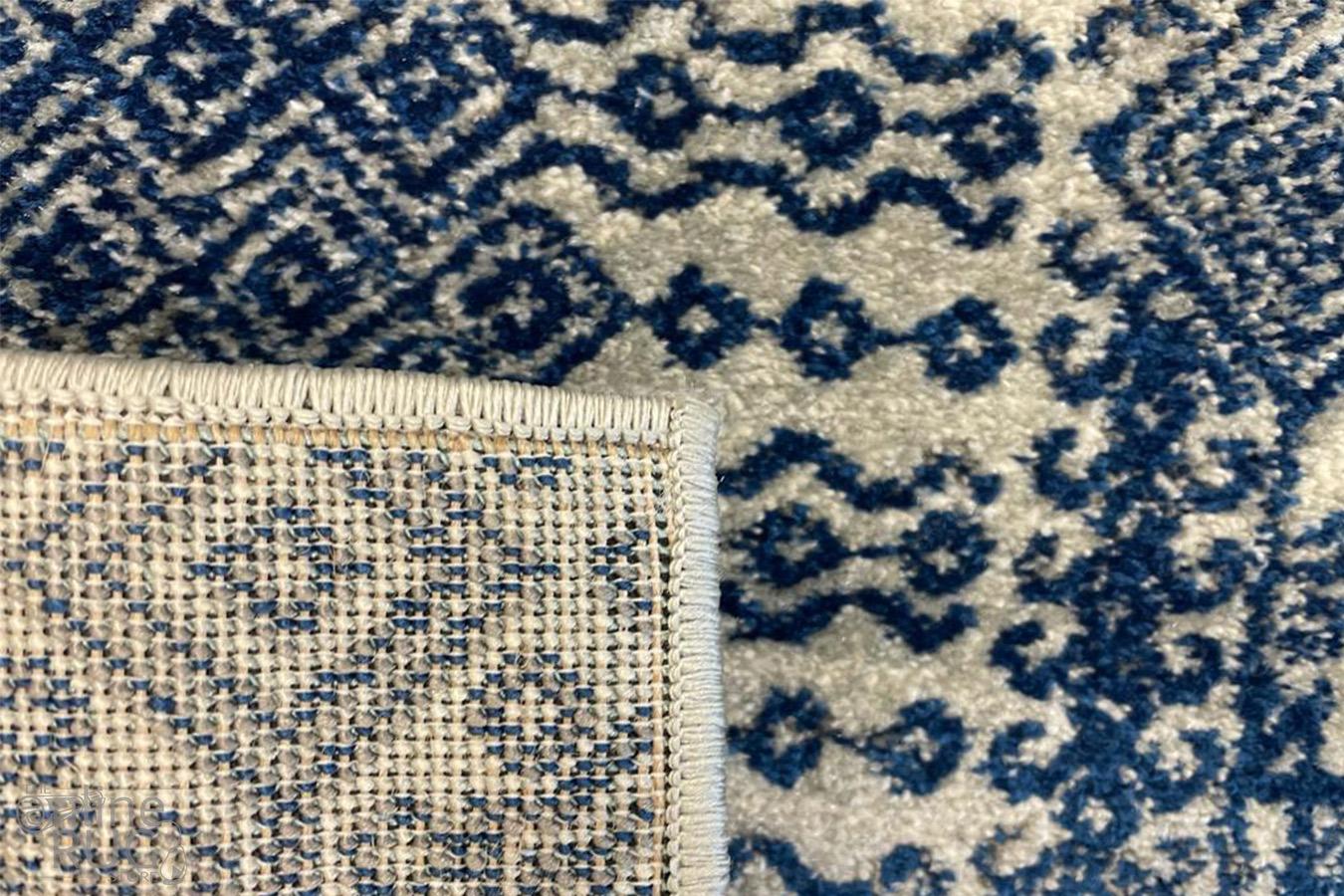 Mystique Navy and White Vintage Patterned Rug