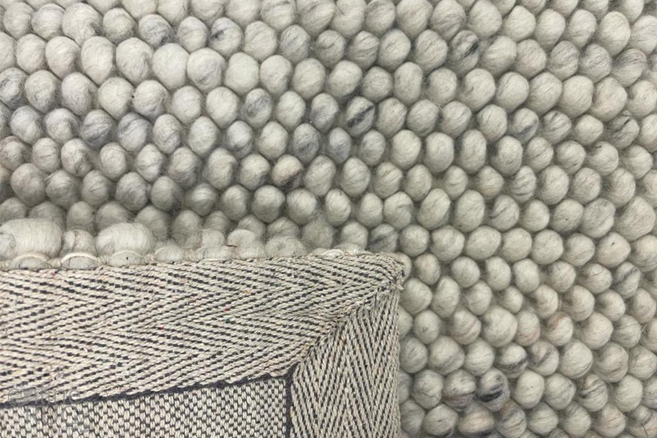 Olivia Natural Bubble Pattern Wool Rug