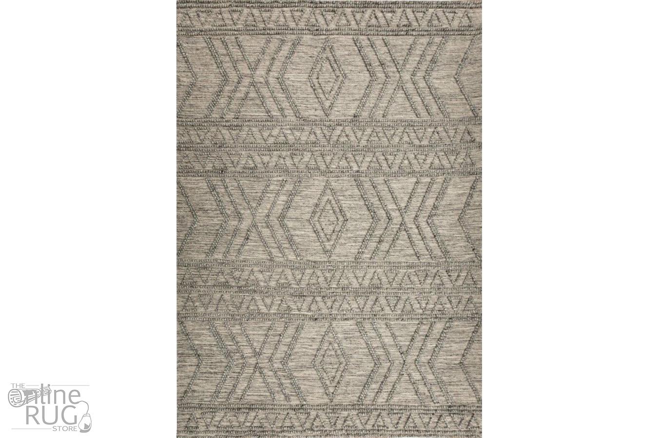 Anika Grey Tribal Wool Rug