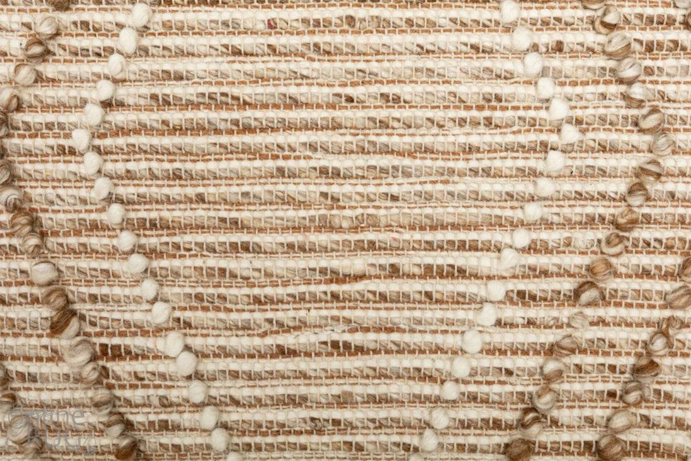 Anika Beige Diamond Trellis Wool Rug