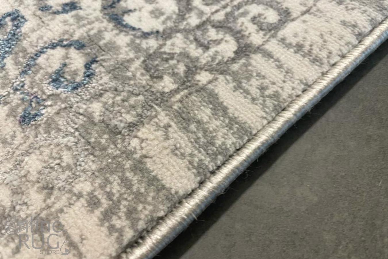 Charm Light Grey Medallion Distressed Rug