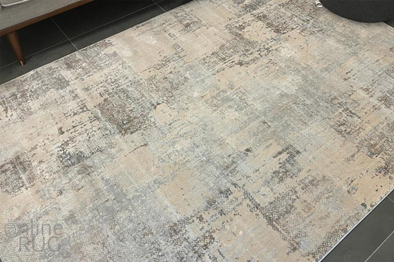 Envy Light Grey Contemporary Rug