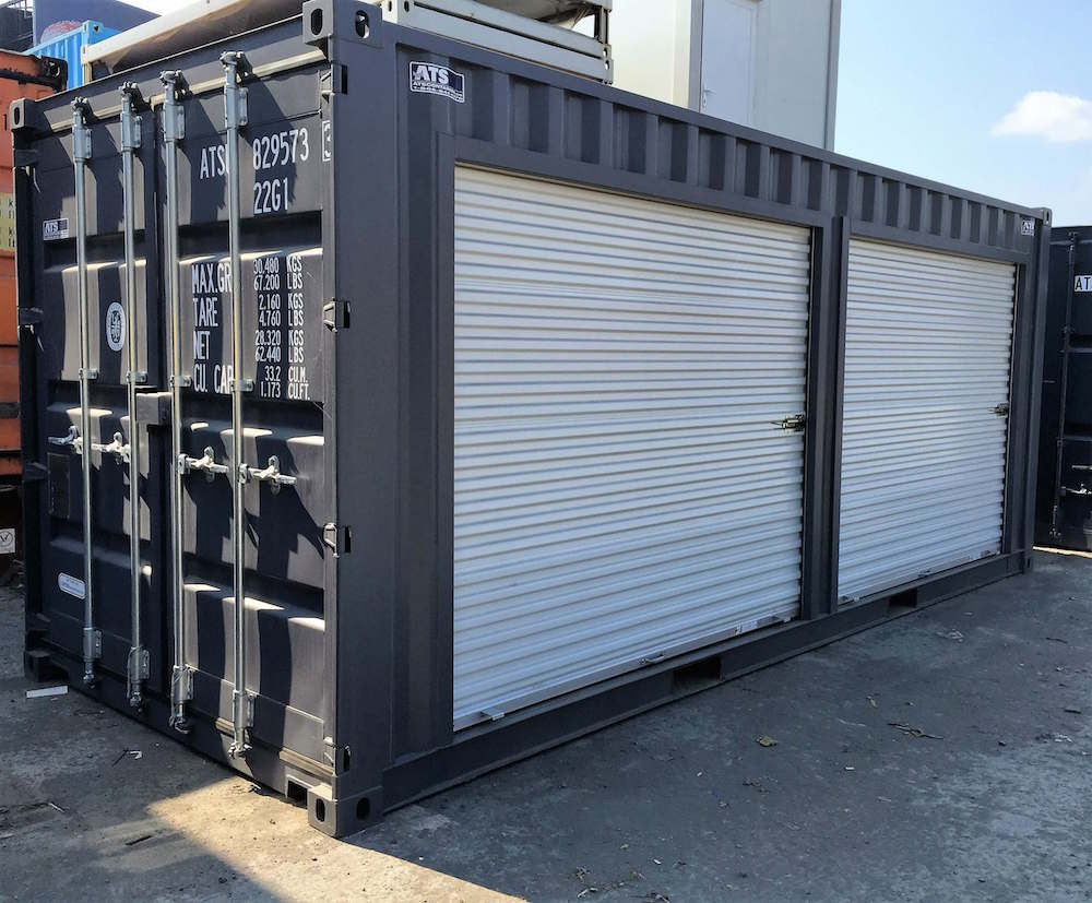 roll up doors on shipping containers