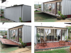 Fold down Deck Container homes Costa Rica