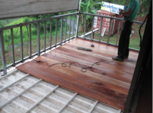 Wooden Deck 3 Container homes Costa Rica