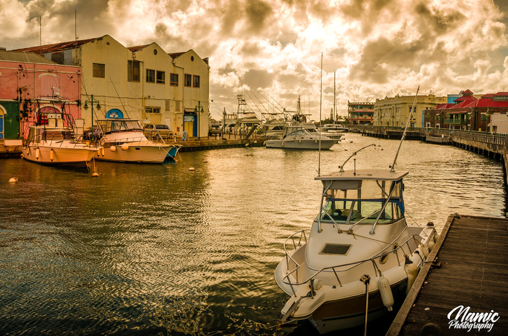 Barbados Harbour and Marina Sunset