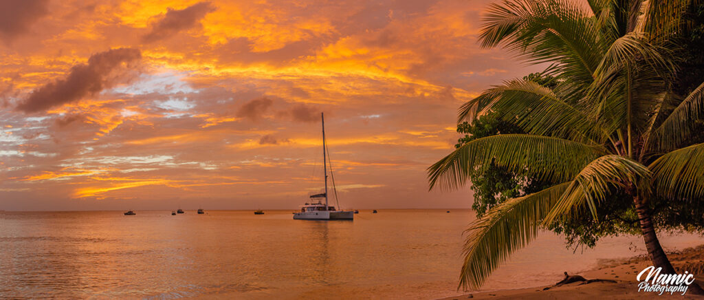 Sunrise and sunset in Barbados