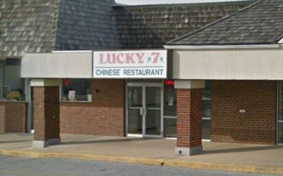 New Lucky Seven in Red Lion; Door jams/grooves of Pepsi refrigerator unit heavily soiled with deceased insects, dirt and dust debris, 11 violations found during inspection