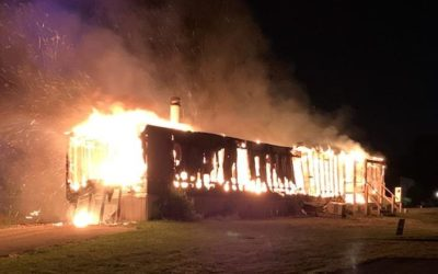 Vacant Thomasville mobile home goes up in flames, authorities investigate cause, no injuries