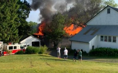 2 story chicken coop goes up in flames in Lower Swatara Township