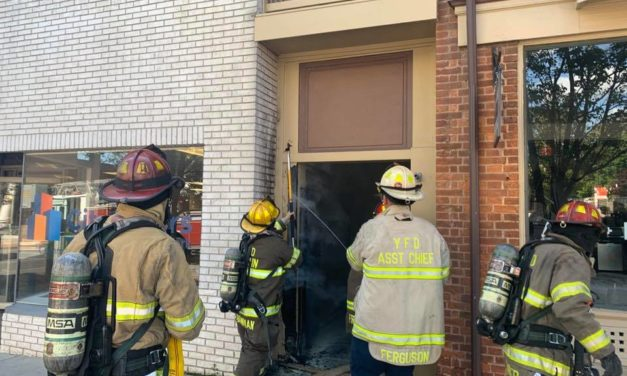 York City fire crews battling blaze on West Market Street