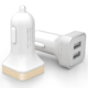 2-Port USB Car Charger With Customized Logo Compatible with all Devices