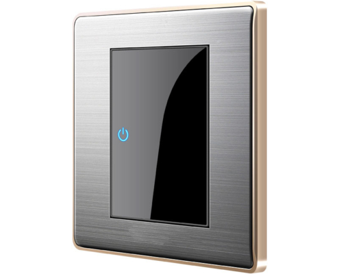 Innovative Modern Crystal Panel Sensitive-Touch Luxury LED Wall Light Switch