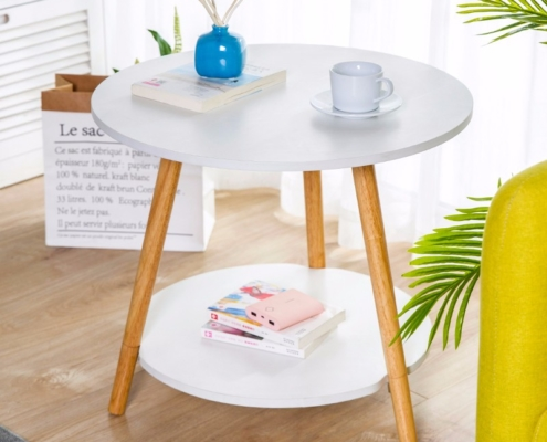 Two-tiered Modern & Simple Coffee End/Side Table for Living Room, Balcony, Home & Office