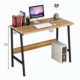 Simple Office Computer Desk for Home Office Made of Double Deck Wood