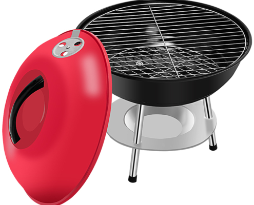 Lightweight Plated Steel Portable Charcoal Grill with Customizable Logo