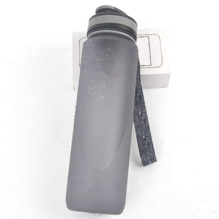 BPA-Free Plastic Water Bottle with Leak-Proof Lid and Customizable Logo