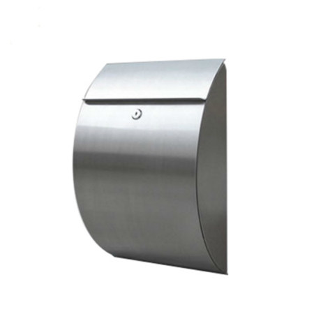 Large Lockable Mailbox with a Modern Design and Secure Drop Slot