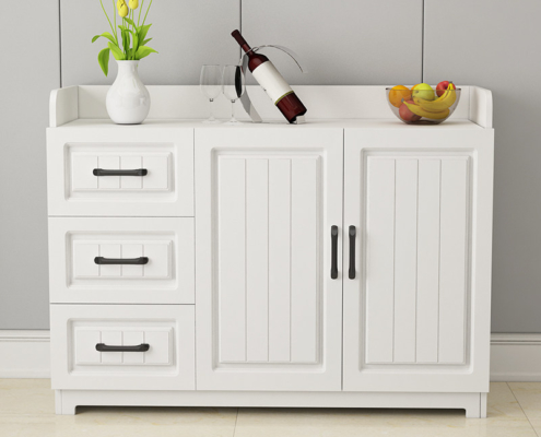 White Stackable Quaint Cupboard for Dining Rooms and Kitchens