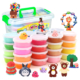 Multi Color Dry Modeling Clay Kit with Add-Ons