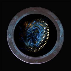 Serving Plate-Blue Spiral
