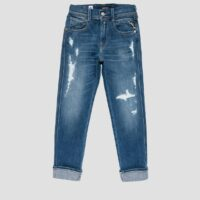 SKINNY FIT LOW CROTCH AGED BRAE JEANS