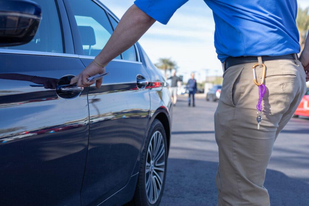 valet retrieving car for client