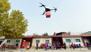 JD.com Uses Unmanned Delivery Helicopters To Deliver Parcels In Xi'An