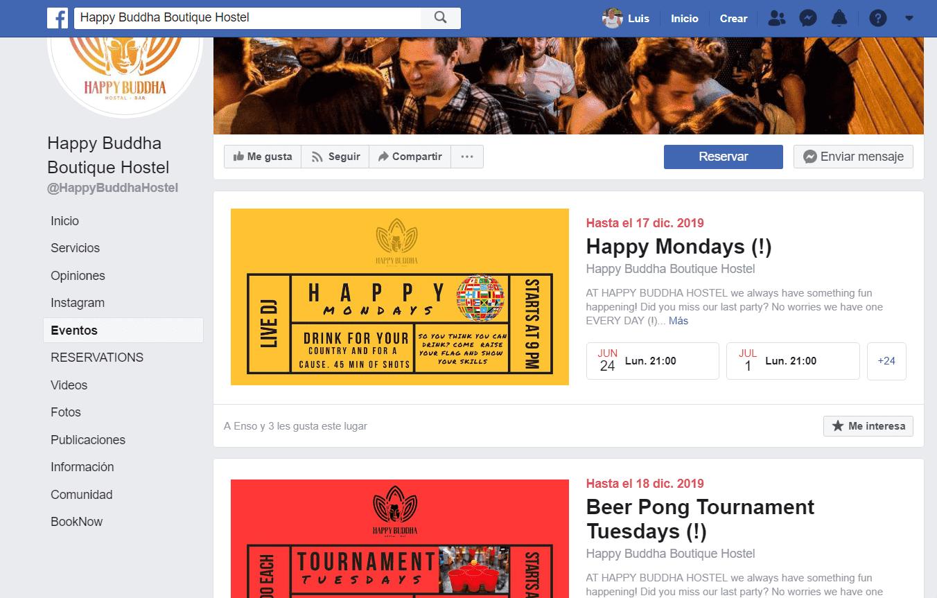 Fan Page de Happy Buddha Hostal