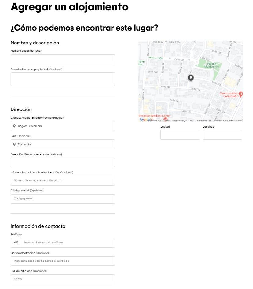 Datos específicos para Publicar Hotel en Tripadvisor