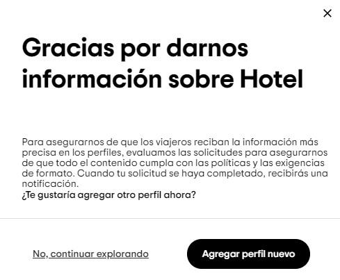 Completar toda la información para Publicar Hotel en Tripadvisor