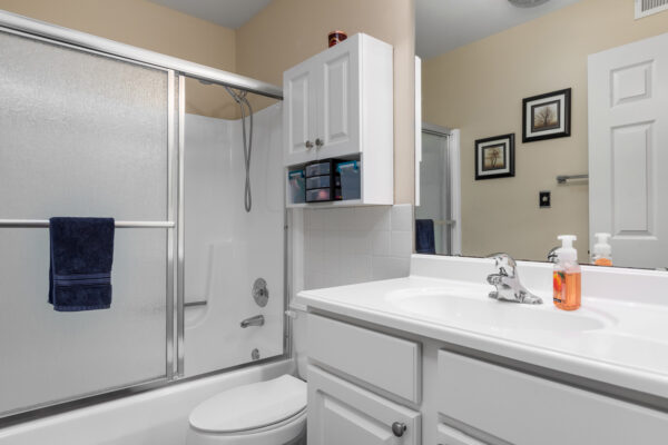 A full bathroom at Chesterfield Village Apartments
