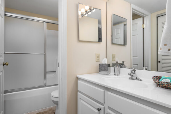 A separated bathroom at Chesterfield Village Apartments