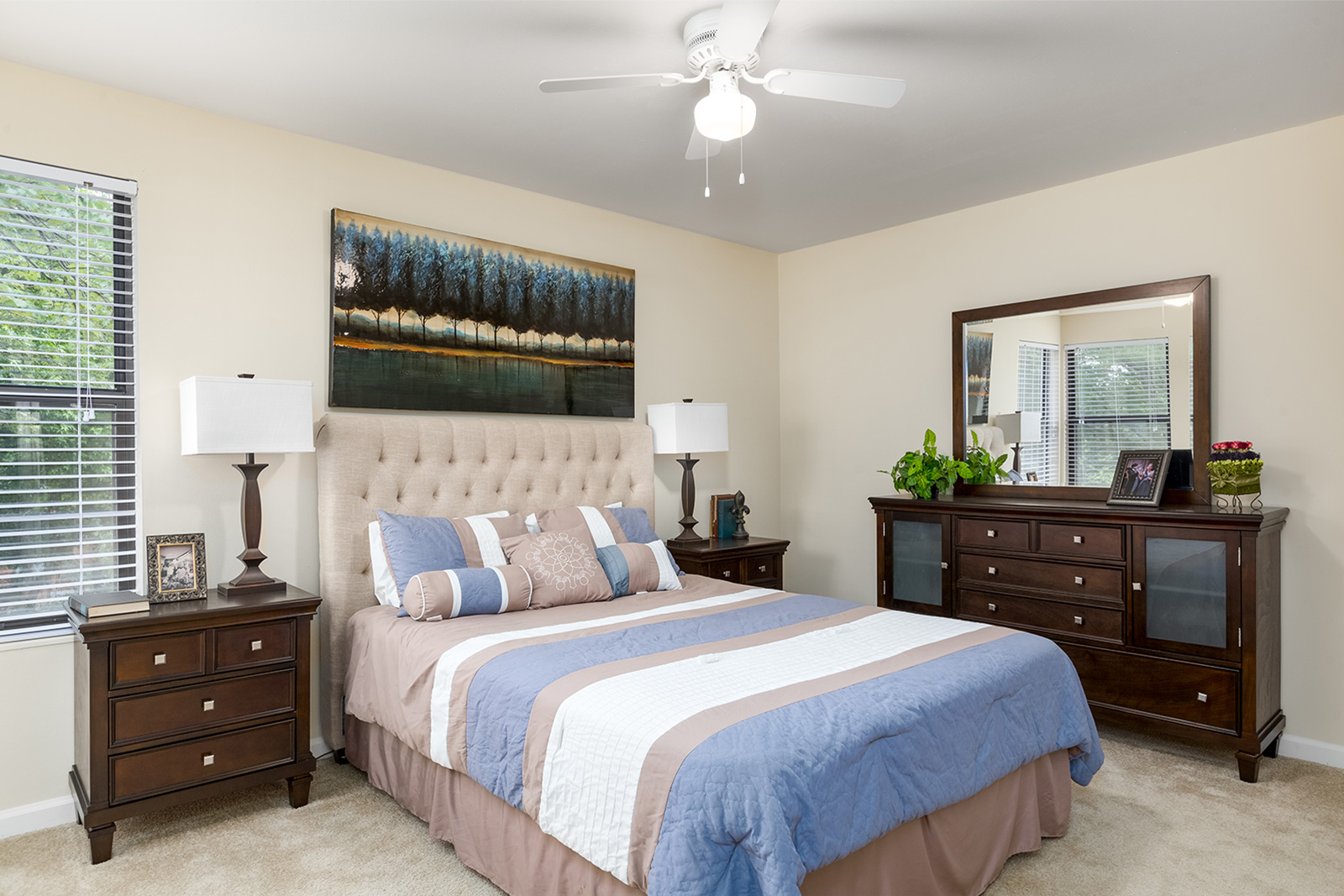 A bedroom at Chesterfield Village Apartments