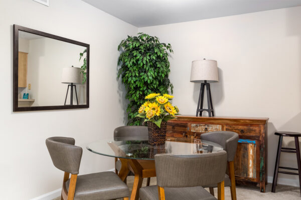 A dining room at Chesterfield Village Apartments