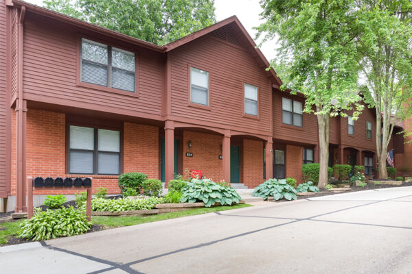 The townhomes at Chesterfield Village Apartments