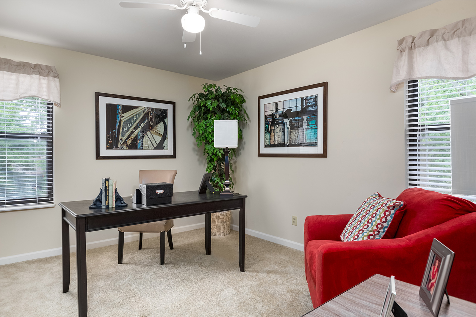 An office at Chesterfield Village Apartments