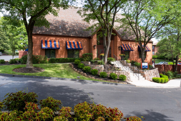The Chesterfield Village Apartments clubhouse wide view