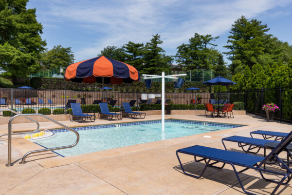 The kiddie pool at Chesterfield Village Apartments