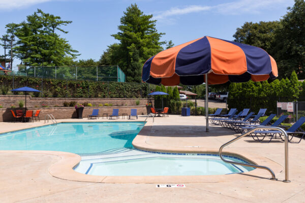 The pool at Chesterfield Village Apartments